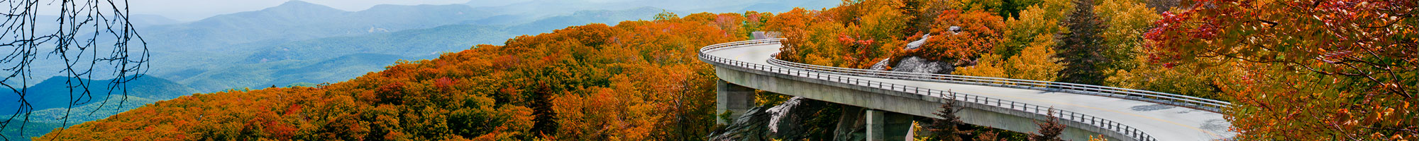 The Blue Ridge Parkway Viaduct near Linvile Falls NC