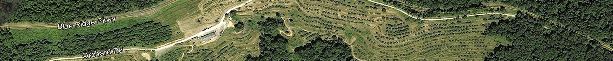 Topographical map of the Orchard at Altapass off the Blue Ridge Parkway in North Carolina